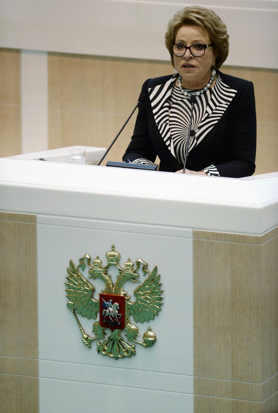 Валентина Матвиенко: Россия не будет участвовать в наземных операциях в Сирии