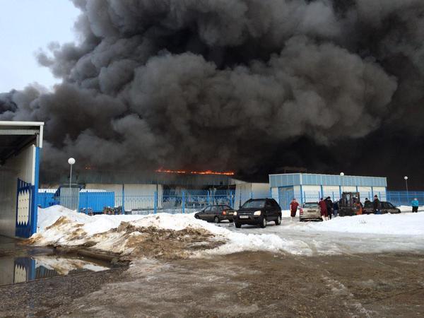 Пожар на мясокомбинате в Новой Москве локализован
