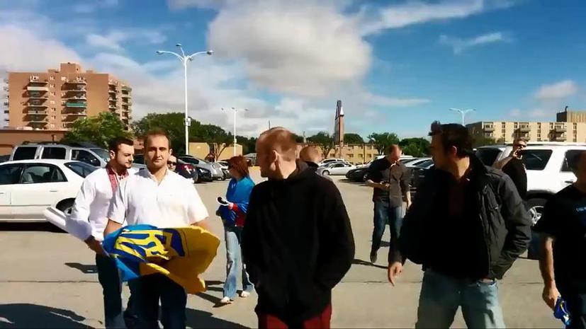 В Канаде украинские националисты пришли в русскоязычную школу с нецензурной бранью