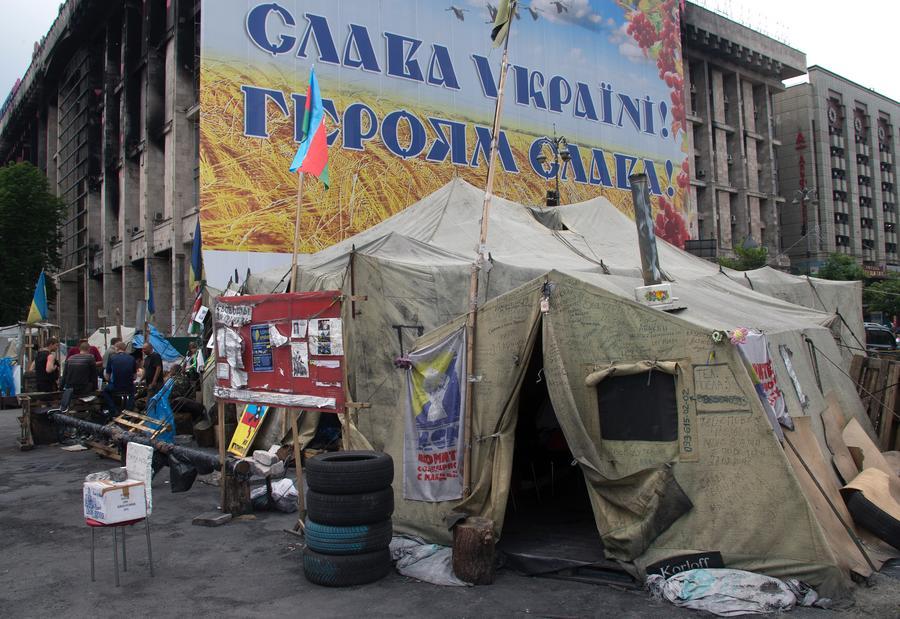 Среди киевлян зреет недовольство тем, что сторонники Майдана занимают центр столицы