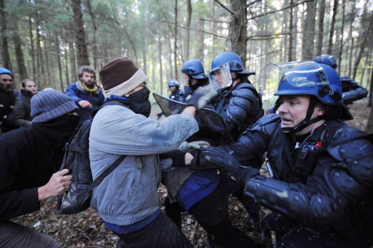 Полиция Франции жестоко разогнала защитников леса под Нантом