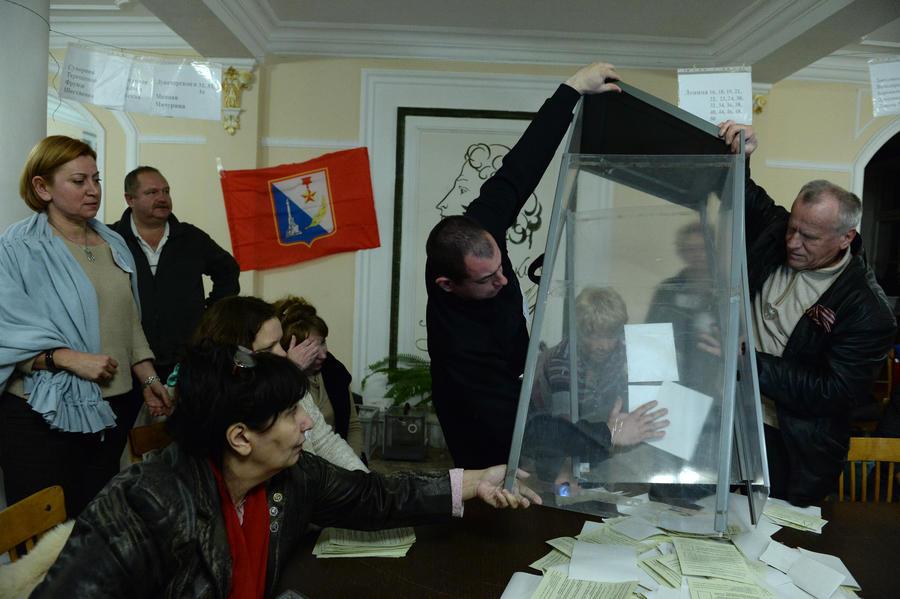 В Севастополе вступление Крыма в состав России подержали 95,6% проголосовавших на референдуме