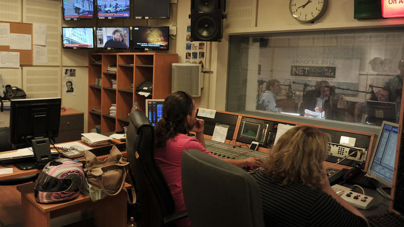 В Греции прекратили вещание государственное телевидение и радио