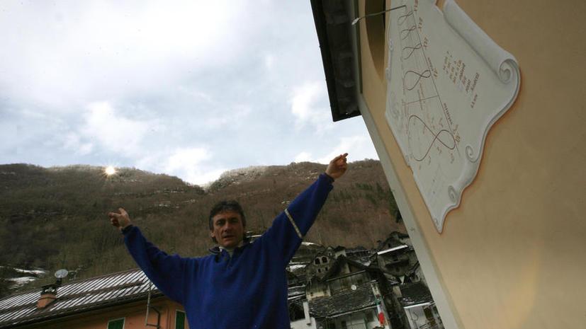 Жители альпийской долины сделали солнце из зеркала