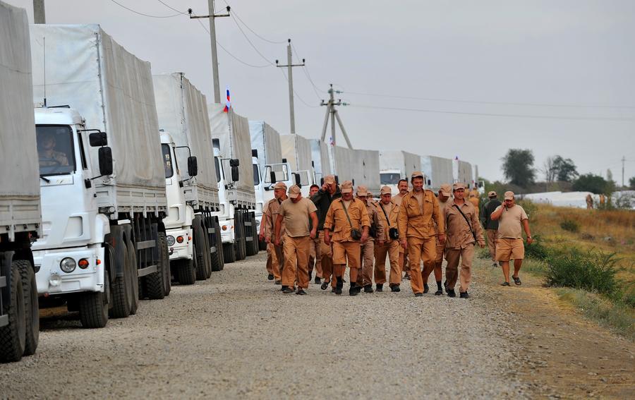 Второй гуманитарный конвой из России пересёк границу с Украиной