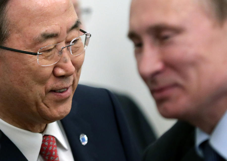 Пан Ги Мун обсудит с Владимиром Путиным ситуацию на Украине