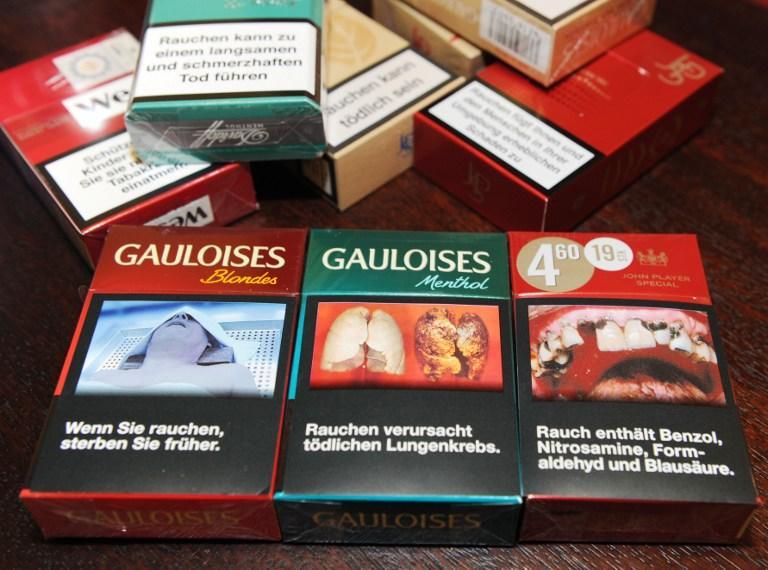 Бросить курить россиянам помогут устрашающие изображения на пачках сигарет