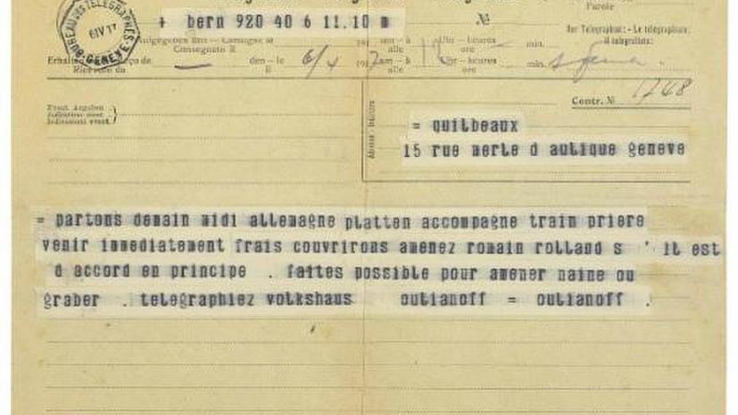 Телеграмма Ленина ушла с молотка за 50 тыс. фунтов