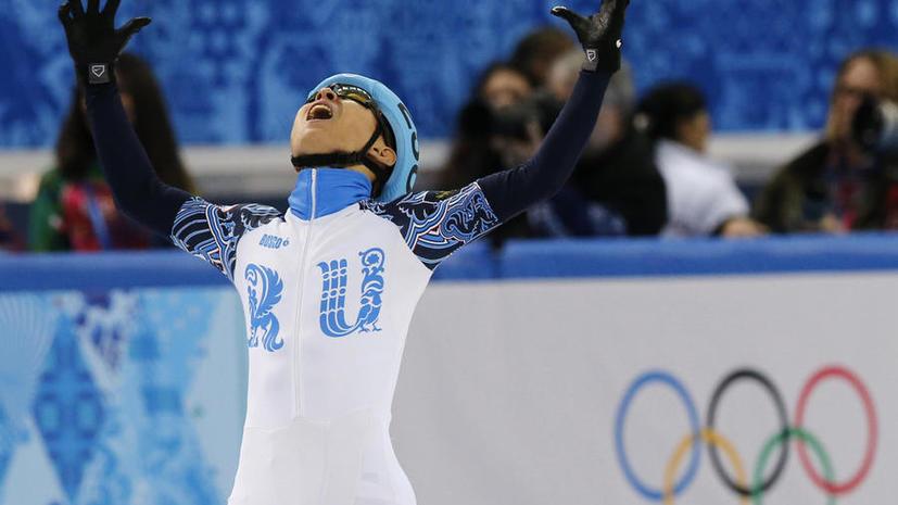 Российские конькобежцы Ан и Григорьев завоевали золото и серебро в шорт-треке