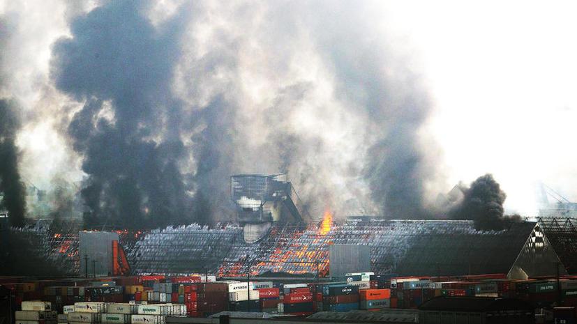 В бразильском порту сгорело 180 тысяч тонн сахара