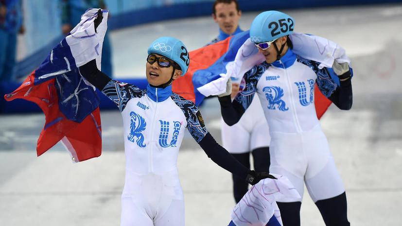 Российские шорт-трекисты одержали победу в эстафете на дистанции 5000 метров