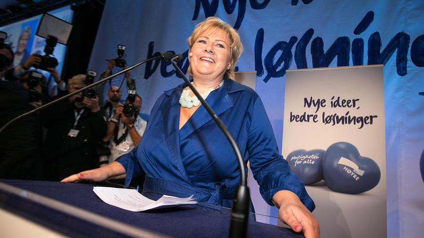 Консерваторы победили на парламентских выборах в Норвегии