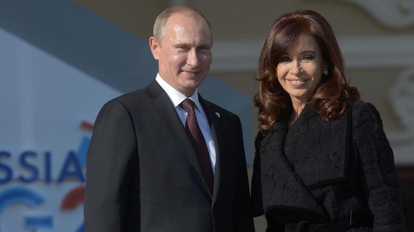 Президенты РФ и Аргентины: Запад применяет к ситуации вокруг Крыма двойные стандарты