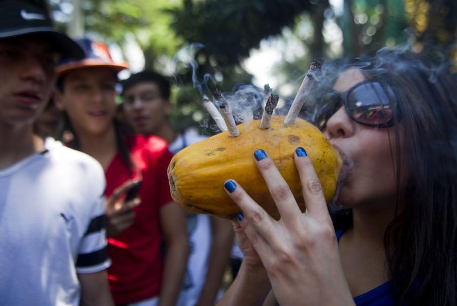 В Колумбии наркоманов будут лечить марихуаной