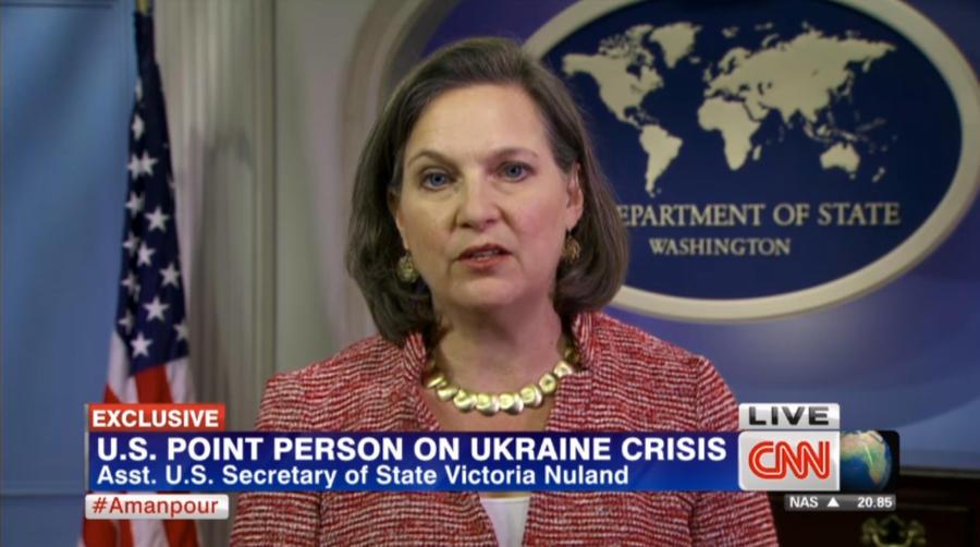 Виктория Нуланд в эфире CNN обвинила Россию в дестабилизации ситуации на Украине