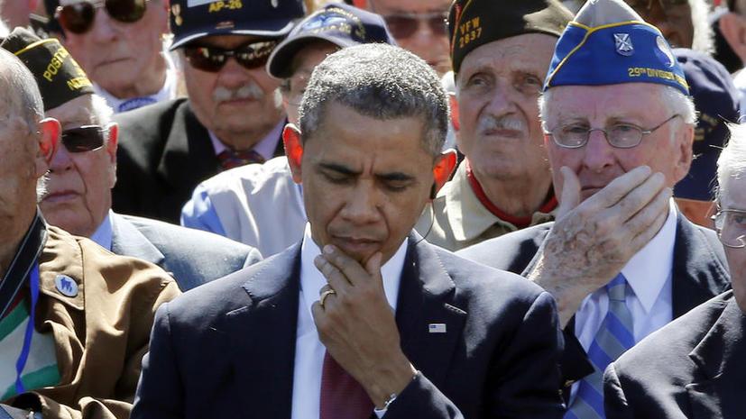 Французы обрушились с критикой на Обаму, жующего жвачку на церемонии в честь «Дня Д»