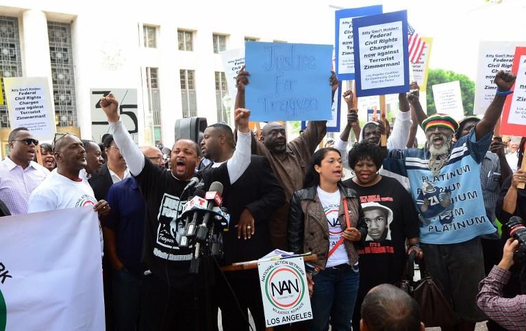 Тысячи человек снова вышли на улицы США, протестуя против оправдания Циммермана