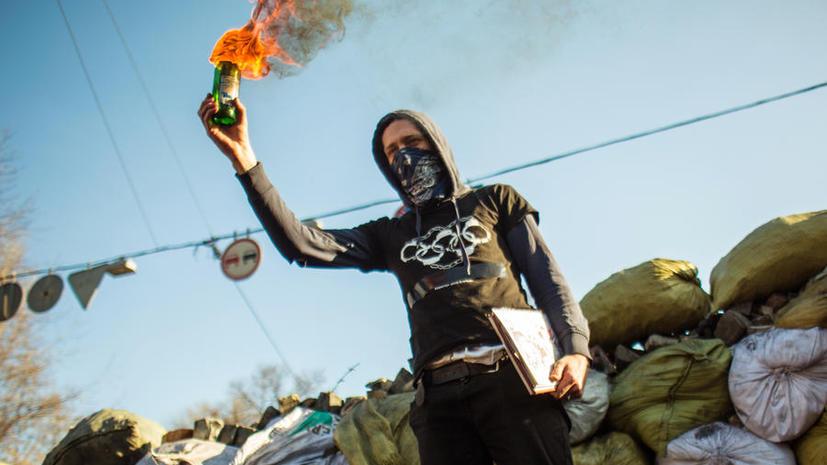 В результате столкновений в Киеве пострадали семь бойцов внутренних войск Украины