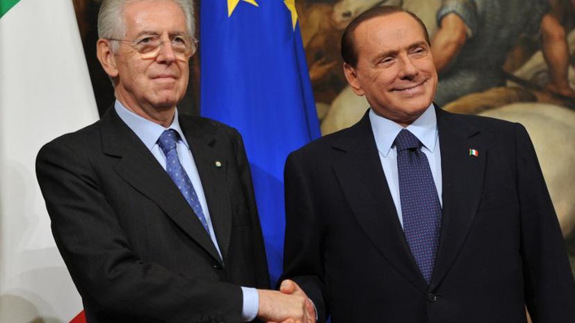 Премьер-министр Италии уходит в отставку, а Берлускони возвращается