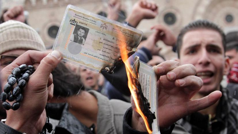 """Короля Иордании может ждать собственная """"арабская весна"""""""