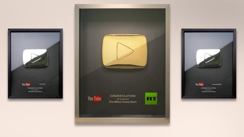 YouTube отметил успехи видеоканалов RT