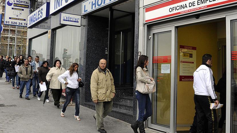 Ежедневно работу теряют 2 тыс. испанцев