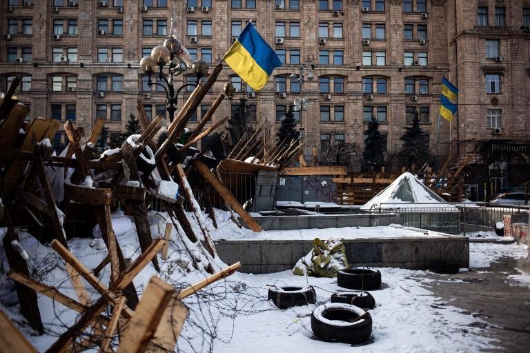 Аномальные морозы на Украине прогнали киевских оппозиционеров с Майдана