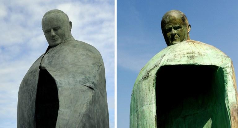 Статуя Папы Римского больше не похожа на Муссолини