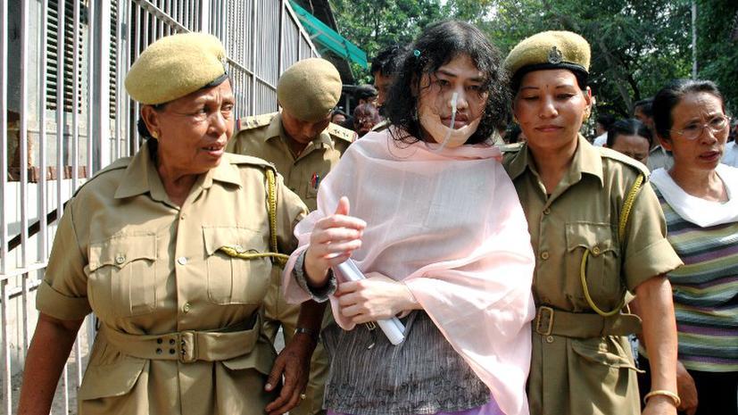 Мировой рекорд индийской правозащитницы - она голодает уже 12 лет