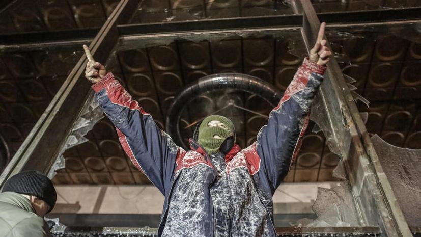Здание Минагропрода, захваченное радикалами в Киеве, освобождено