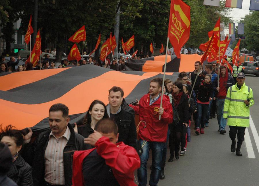В Молдавии собираются штрафовать за георгиевские ленточки