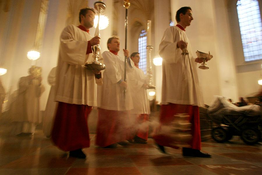 Немец с мачете потребовал от священника €1 млн