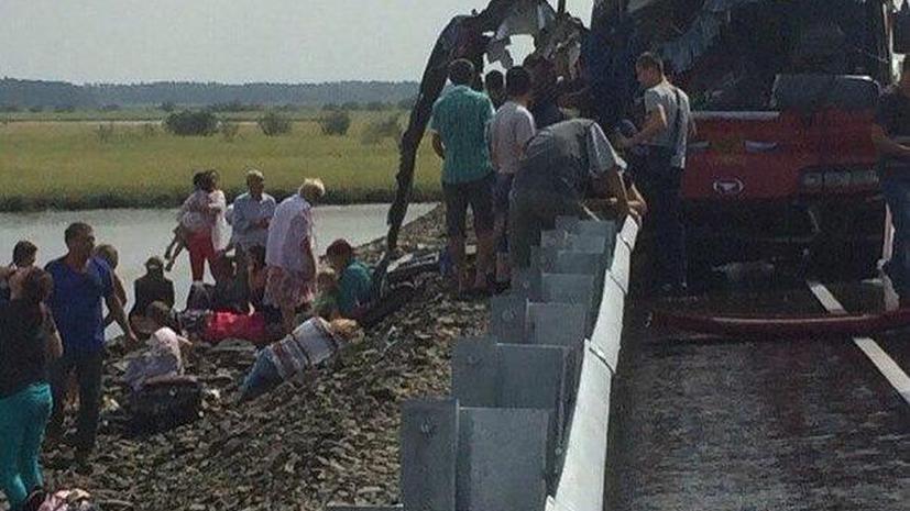 Два автобуса столкнулись в Хабаровском крае, 16 человек погибли, около 60 пострадали