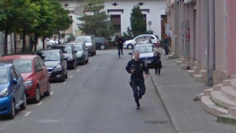 Ограбление и погоня попали на уличные панорамы Google Maps
