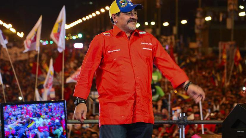 Диего Марадона поддержал Николаса Мадуро в борьбе за пост президента Венесуэлы