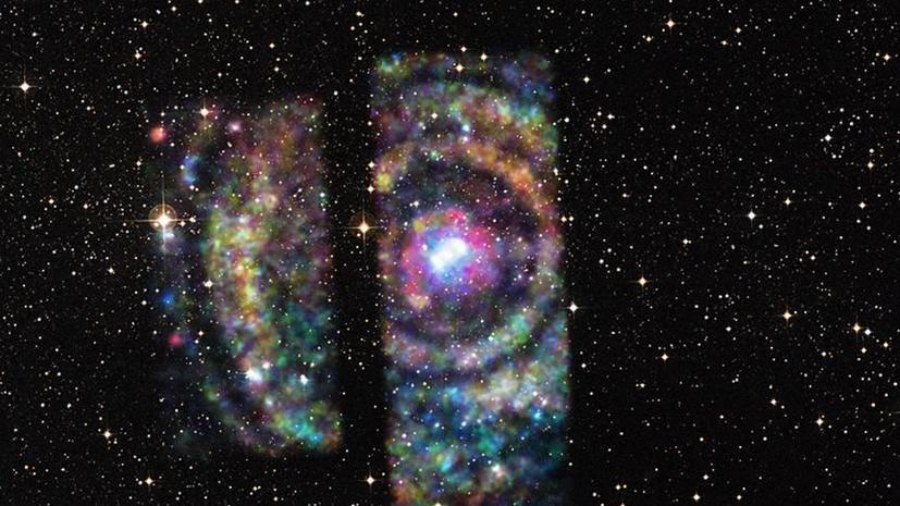 Астрономы определили расстояние до звёздной системы при помощи космической радуги
