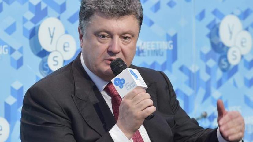 Украинский политолог: Порошенко продолжает обещать светлое будущее, несмотря на катастрофу в стране