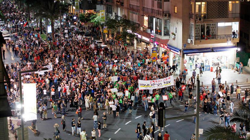 Израиль охвачен протестами против финансовой политики нового правительства