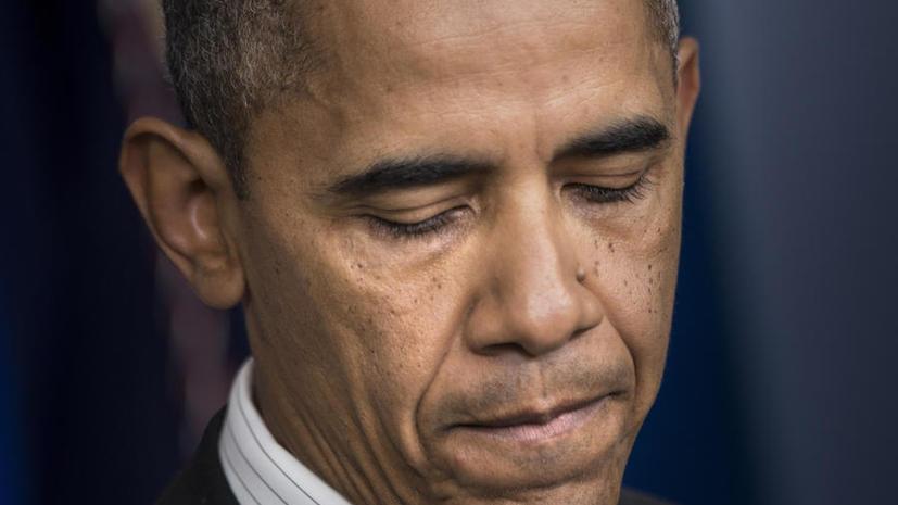 Исследование: рекордно низкий рейтинг Барака Обамы продолжает падать