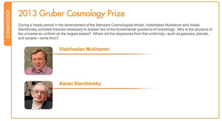 Российские астрофизики удостоились главной международной награды по космологии